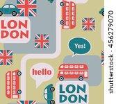 retro british seamless vector... | Shutterstock .eps vector #456279070