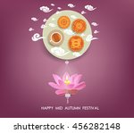 chinese mid autumn festival... | Shutterstock . vector #456282148