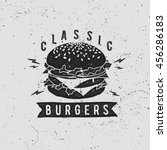 vector vintage fast food logo.... | Shutterstock .eps vector #456286183