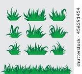 grass vector set    collection... | Shutterstock .eps vector #456291454