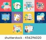 creative process conceptual... | Shutterstock .eps vector #456296020