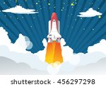 vector illustration of a space... | Shutterstock .eps vector #456297298