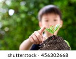 selective focus on little... | Shutterstock . vector #456302668