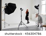 girl the photographer takes... | Shutterstock . vector #456304786