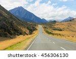 rural scene of asphalt road... | Shutterstock . vector #456306130