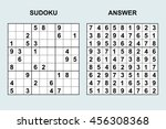 vector sudoku with answer....   Shutterstock .eps vector #456308368