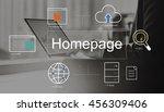 big data domain web page seo... | Shutterstock . vector #456309406
