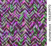 dark lilice floral pattern. zig ...   Shutterstock . vector #456309970