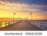 Wooden Pier By The Sea .vintag...