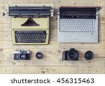 journalistic equipment ... | Shutterstock . vector #456315463