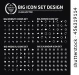 big icon set web icon arrow... | Shutterstock .eps vector #456319114