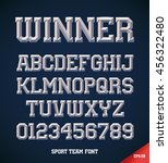 classic style sport team slab... | Shutterstock .eps vector #456322480