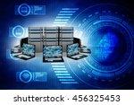 computer network 3d rendering | Shutterstock . vector #456325453