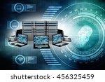 computer network 3d rendering | Shutterstock . vector #456325459