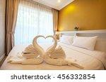 beautiful bedroom interior and...   Shutterstock . vector #456332854