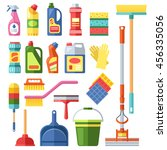house cleaning tools and... | Shutterstock .eps vector #456335056