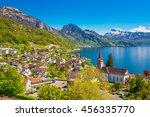 Village Weggis  Lake Lucerne ...