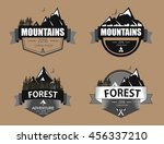 set of mountain  forest... | Shutterstock .eps vector #456337210