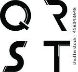 modern font | Shutterstock .eps vector #456343648