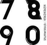 modern font and number | Shutterstock .eps vector #456343654