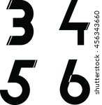 modern font and number | Shutterstock .eps vector #456343660