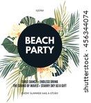 bright hawaiian design with... | Shutterstock .eps vector #456344074