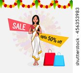 onam special offer sale with... | Shutterstock .eps vector #456353983