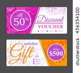 gift voucher template. can be... | Shutterstock .eps vector #456354100