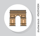 france architecture  flat... | Shutterstock .eps vector #456354304