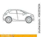 crossover car. editable vector... | Shutterstock .eps vector #456355654