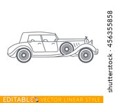 luxury old car. editable vector ... | Shutterstock .eps vector #456355858