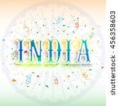 creative text india on ashoka... | Shutterstock .eps vector #456358603