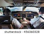 Cockpit  Flight Deck  Of Moder...