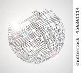 high technology abstract... | Shutterstock .eps vector #456361114