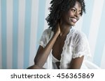 young african american woman...   Shutterstock . vector #456365869