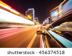 the car moves at great speed at ... | Shutterstock . vector #456374518