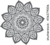 mandala coloring illustration.... | Shutterstock .eps vector #456379006