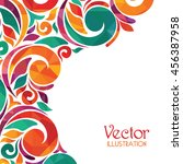 abstract colorful background.... | Shutterstock .eps vector #456387958