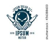 skull car spark plug emblem | Shutterstock .eps vector #456388603