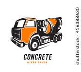 concrete mixer truck | Shutterstock .eps vector #456388630