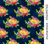 seamless pattern with colorful... | Shutterstock .eps vector #456390763