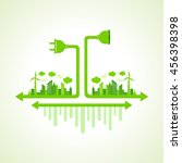 eco city concept with holder... | Shutterstock .eps vector #456398398