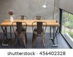 modern desks with cement wall | Shutterstock . vector #456402328