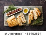 fresh ciabatta bread cut in... | Shutterstock . vector #456403594