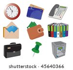 business and office icons.... | Shutterstock .eps vector #45640366