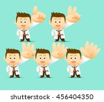 vector illustration doctor... | Shutterstock .eps vector #456404350
