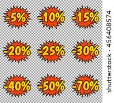 set of nine discount labels.... | Shutterstock .eps vector #456408574