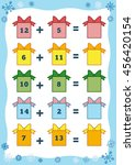 counting game for preschool...   Shutterstock .eps vector #456420154