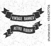hand drawn banner with grunge... | Shutterstock .eps vector #456429706