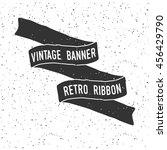 hand drawn banner with grunge... | Shutterstock .eps vector #456429790
